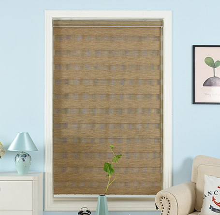 polyester fabric double layer day and night roller zebra blinds
